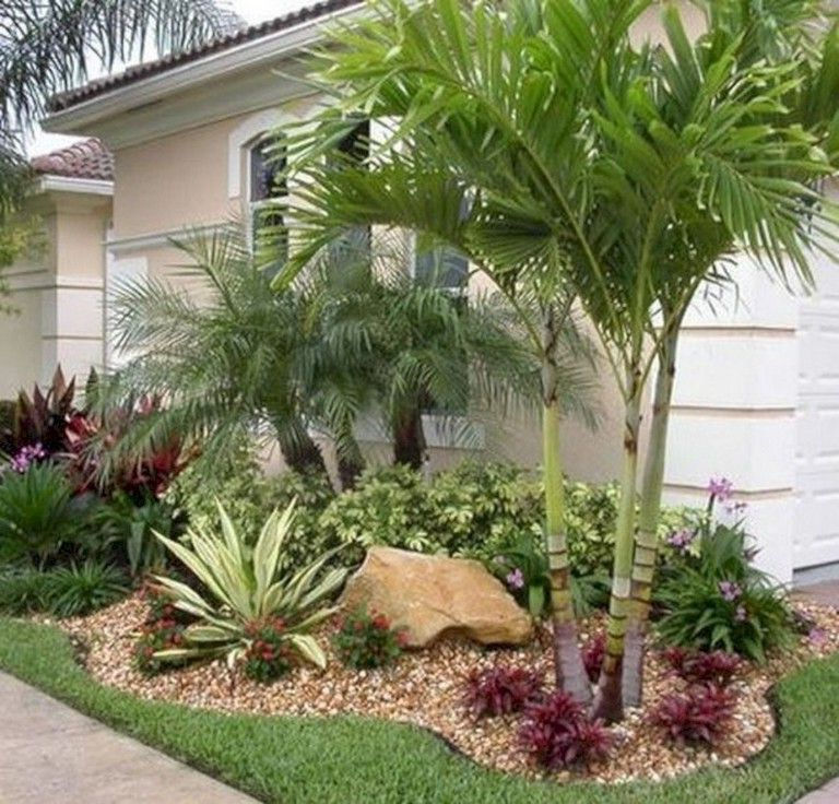 40 Handsome Tropical Front Yard Landscape Ideas For Your