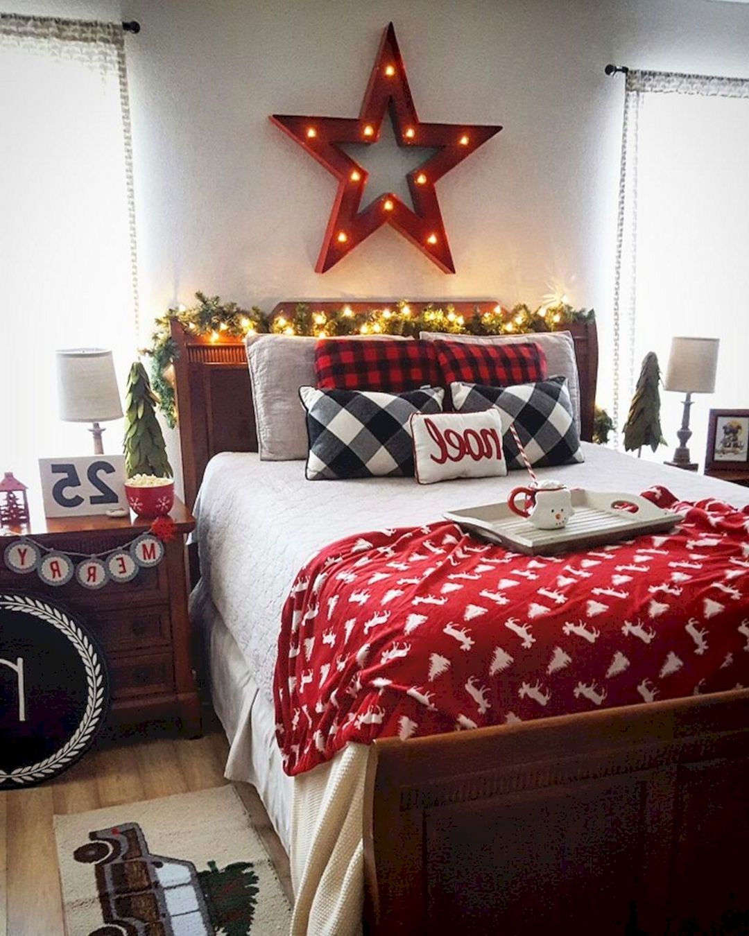 45 Adorable Interior Themed Christmas Bedroom Decorating
