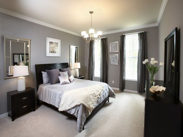 45 Beautiful Paint Color Ideas For Master Bedroom Gray