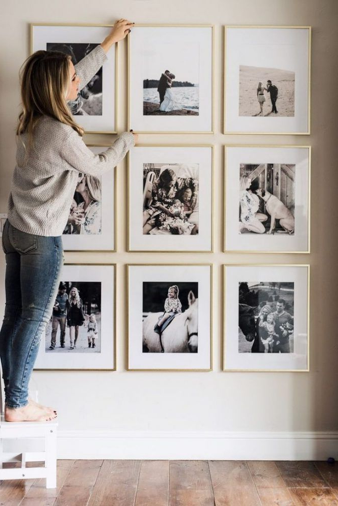 5 Smart And Simple Dcor Tricks Picture Frame Wall