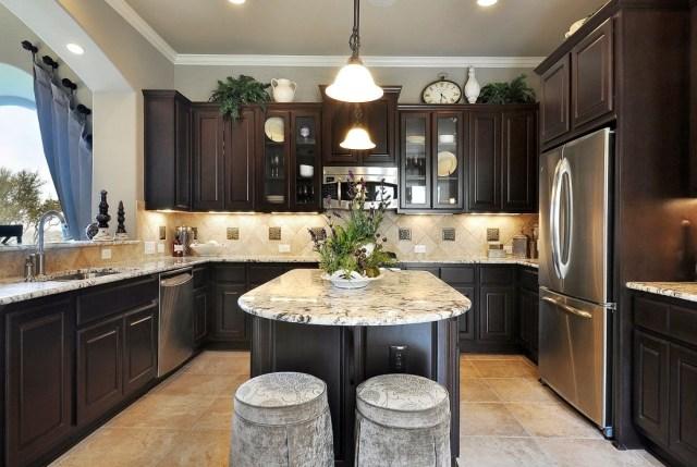 5 Top Tips For Completely Beautiful Dream Kitchen Design Dark Kitchen Cabinets Dark Brown