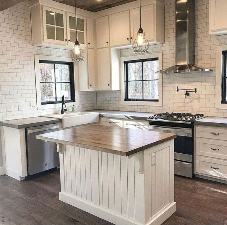 50 Amazing Modern Farmhouse Kitchen Cabinets Decor Ideas