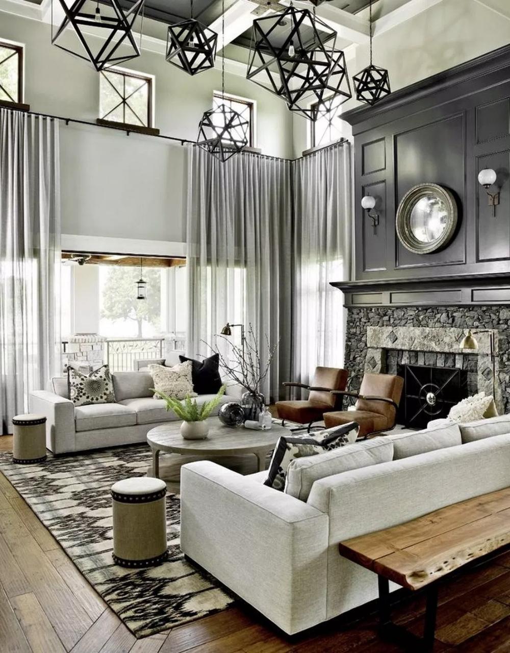 58 Amazing Farmhouse Living Room Design Ideas 6 Home