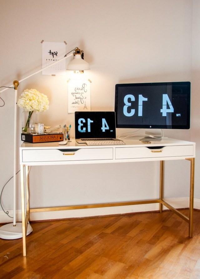 6 Ikea Hacks Using Gold Spray Paint Desk Hacks Ikea