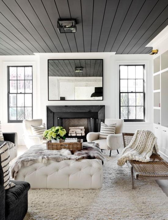 6 Paint Colors That Make A Splash On Ceilings Black