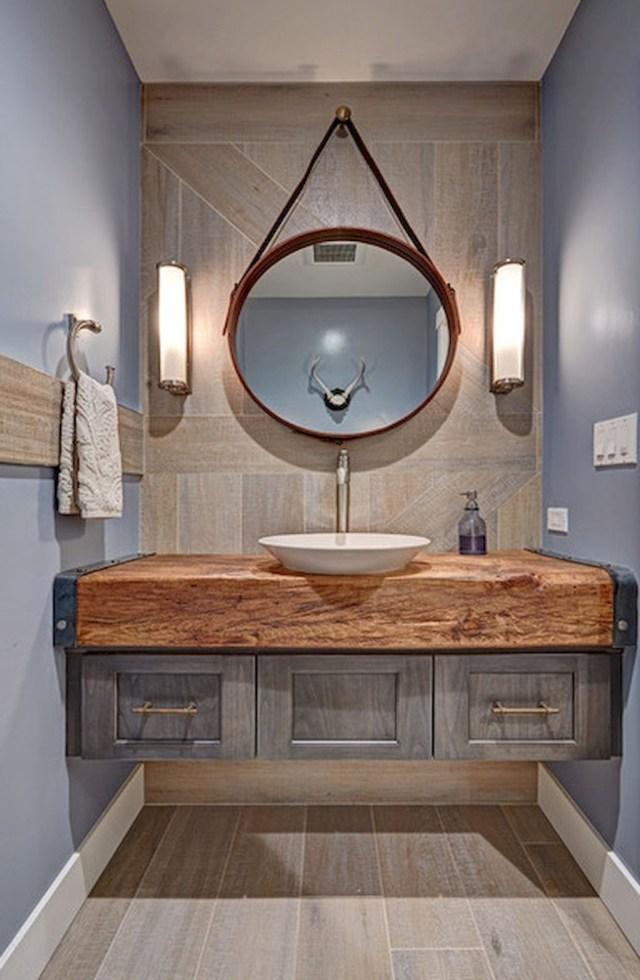 60 Cool Rustic Powder Room Design Ideas 34 Rustic