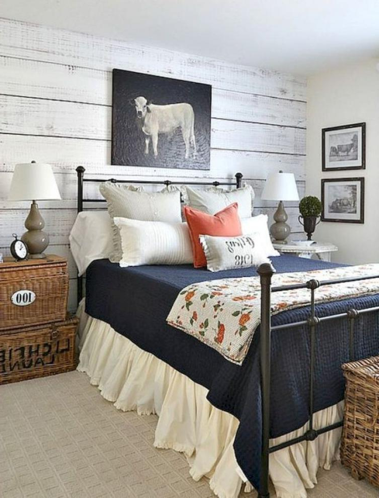 60 Urban Farmhouse Master Bedroom Ideas
