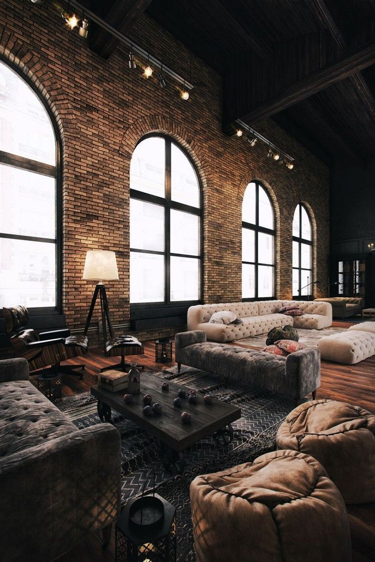 64 Cool Rustic Exposed Brick Wall Ideas For Your Living