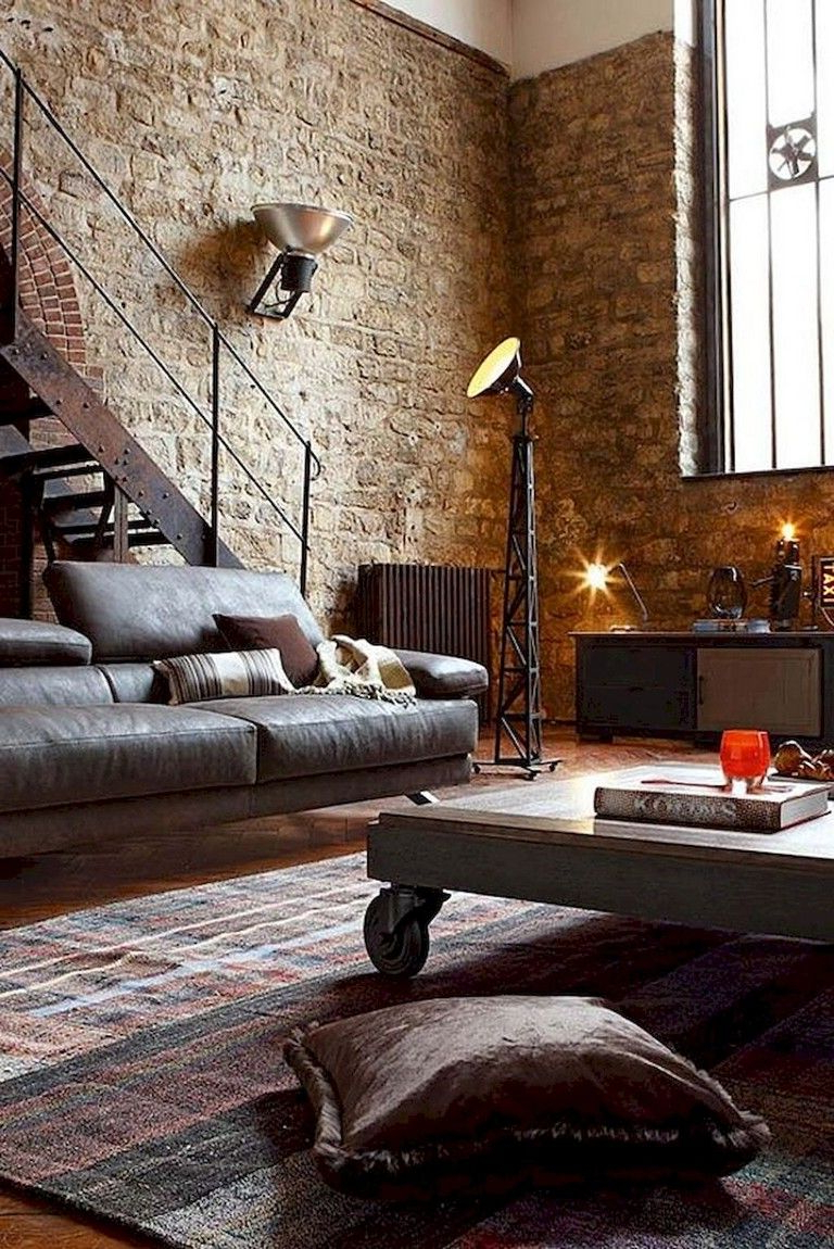 65 Amazing Living Room With Brick Wall Decoration Ideas