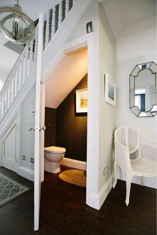 67 Mind Blowing Under Stair Powder Room Designs To Inspire