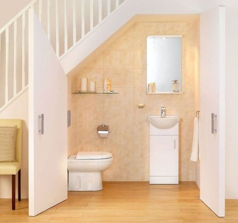 8 Mind Blowing Under Stair Powder Room Designs To Inspire