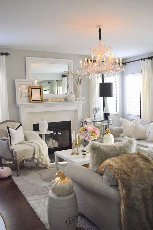 80 Cozy Living Room Decor Ideas For Autumn Apartment
