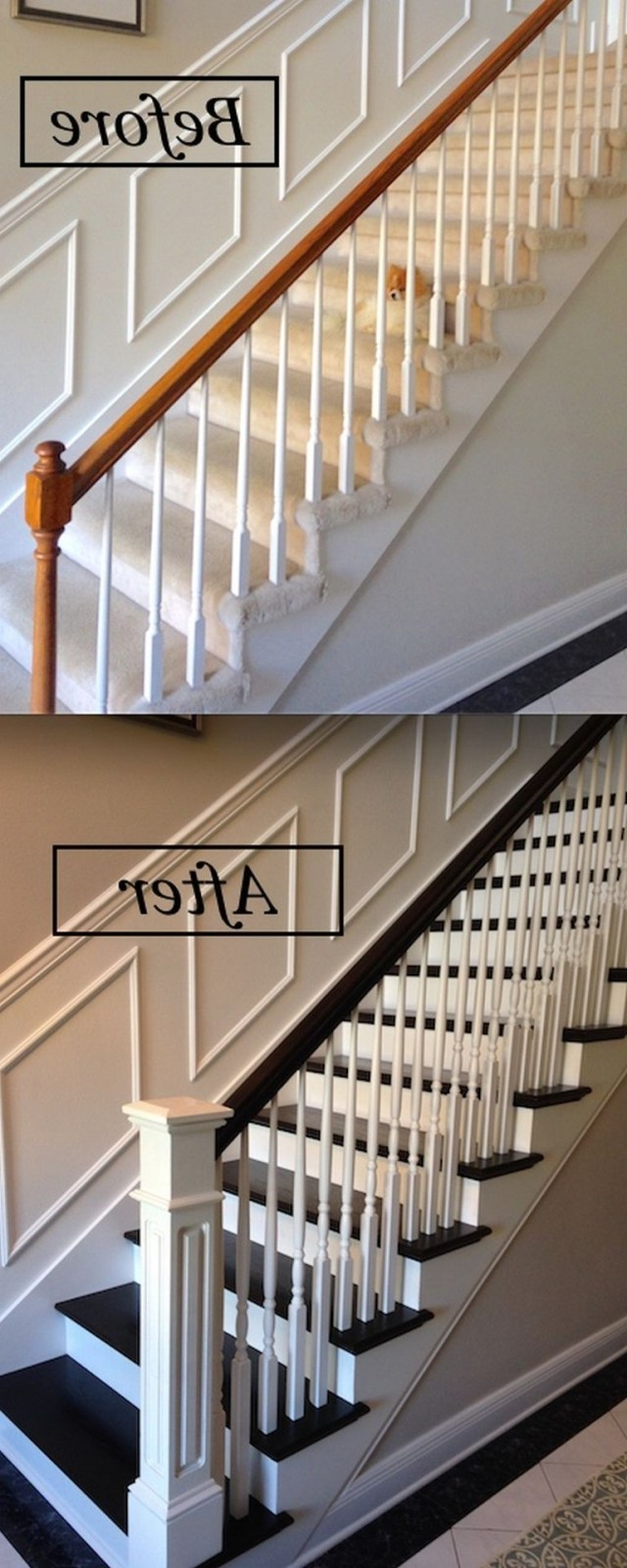 80 Staircase Railing Remodeling Redesign Ideas For Your Cozy Home Staircase Remodel