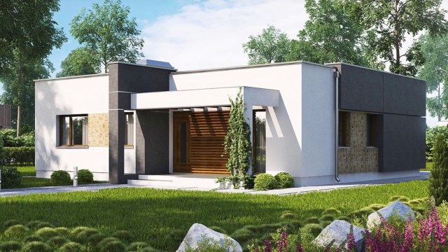 86 M A Compact Modern Two Bedroom House With Large