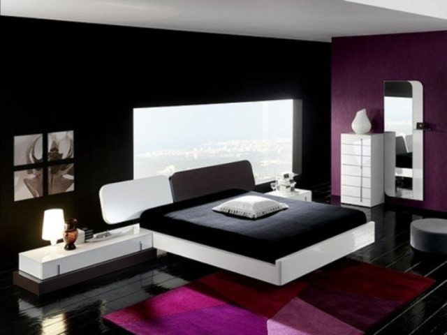 A Bright Beautiful Wall Paint At Contemporary Bedroom