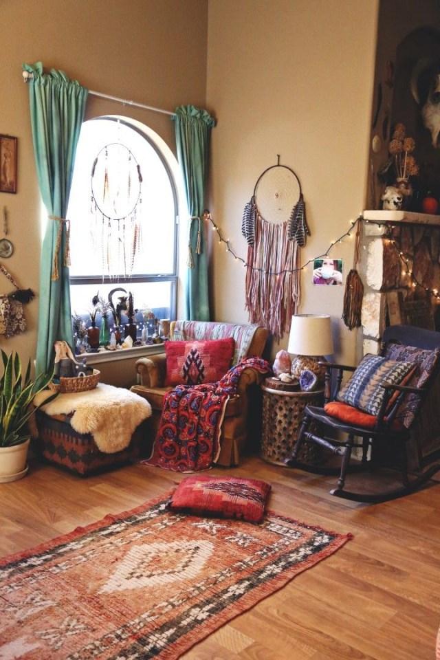 A Cozy Boho Nook Dining Area Bohemian Apartment Decor