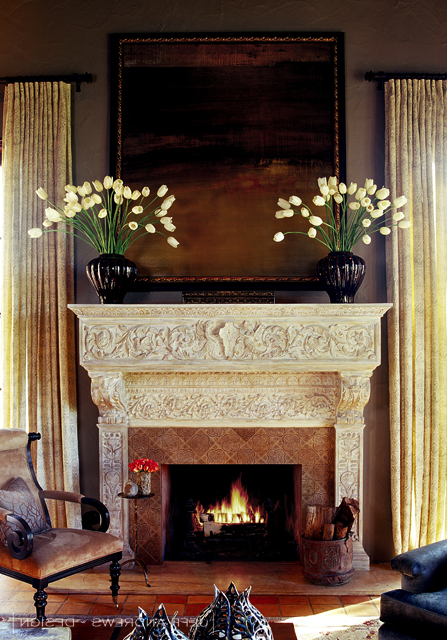A Look At The Fireplaces Inside Designer Jeff Andrews