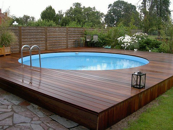 Above Ground Pool Decks 40 Modern Garden Swimming Pool