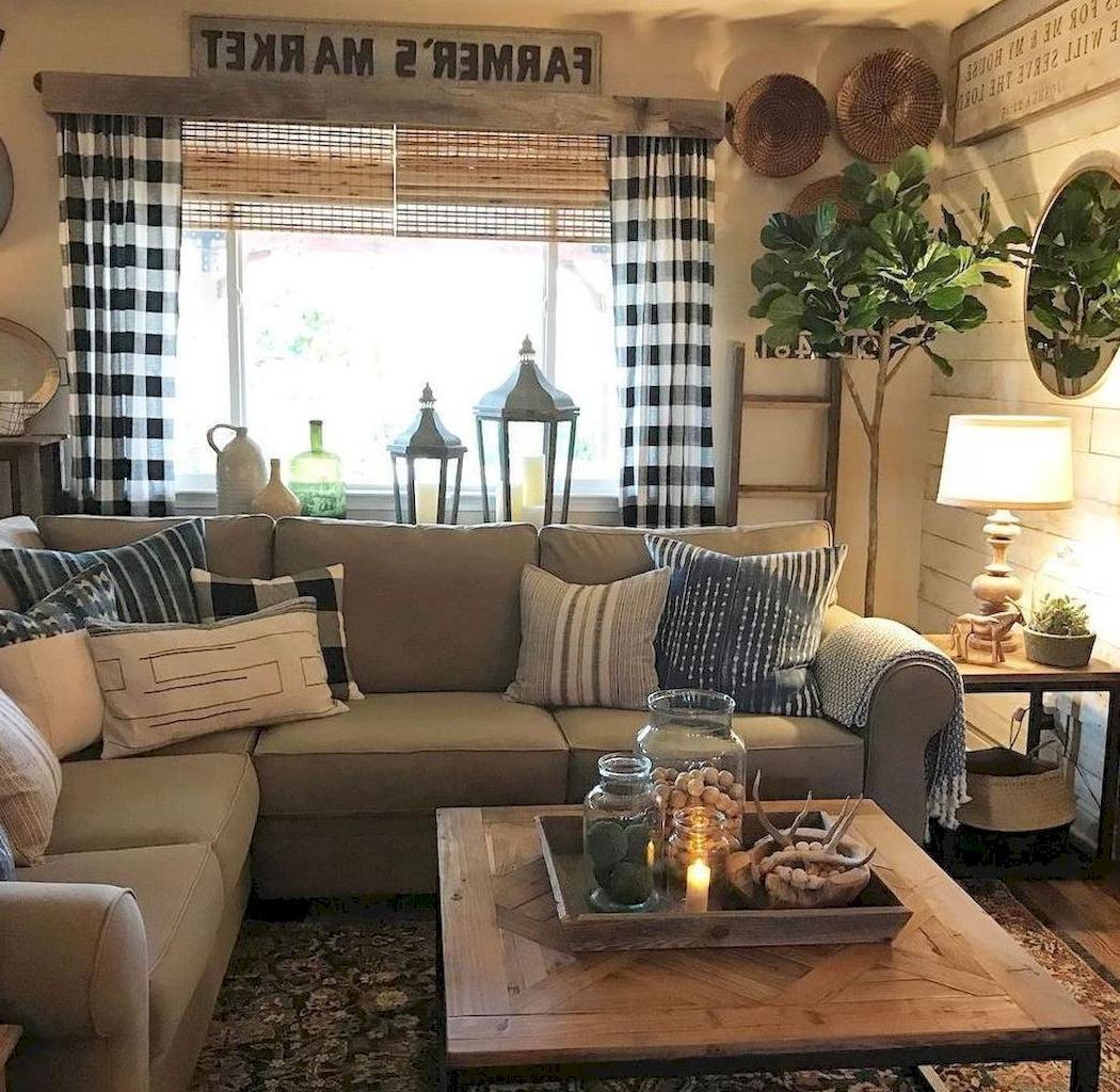 Adorable 55 Rustic Modern Farmhouse Living Room Decor