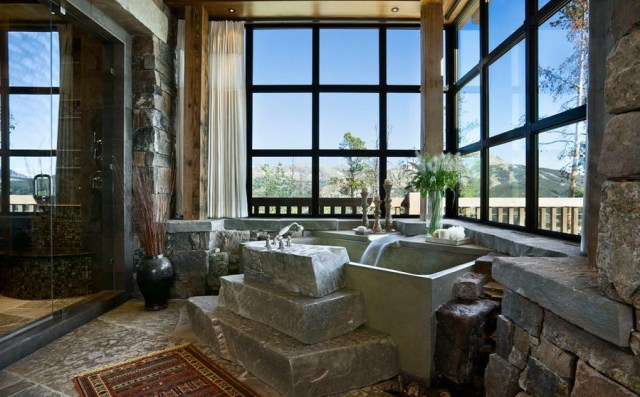 Amazing Bathroom Design With Mountain Style Hupehome