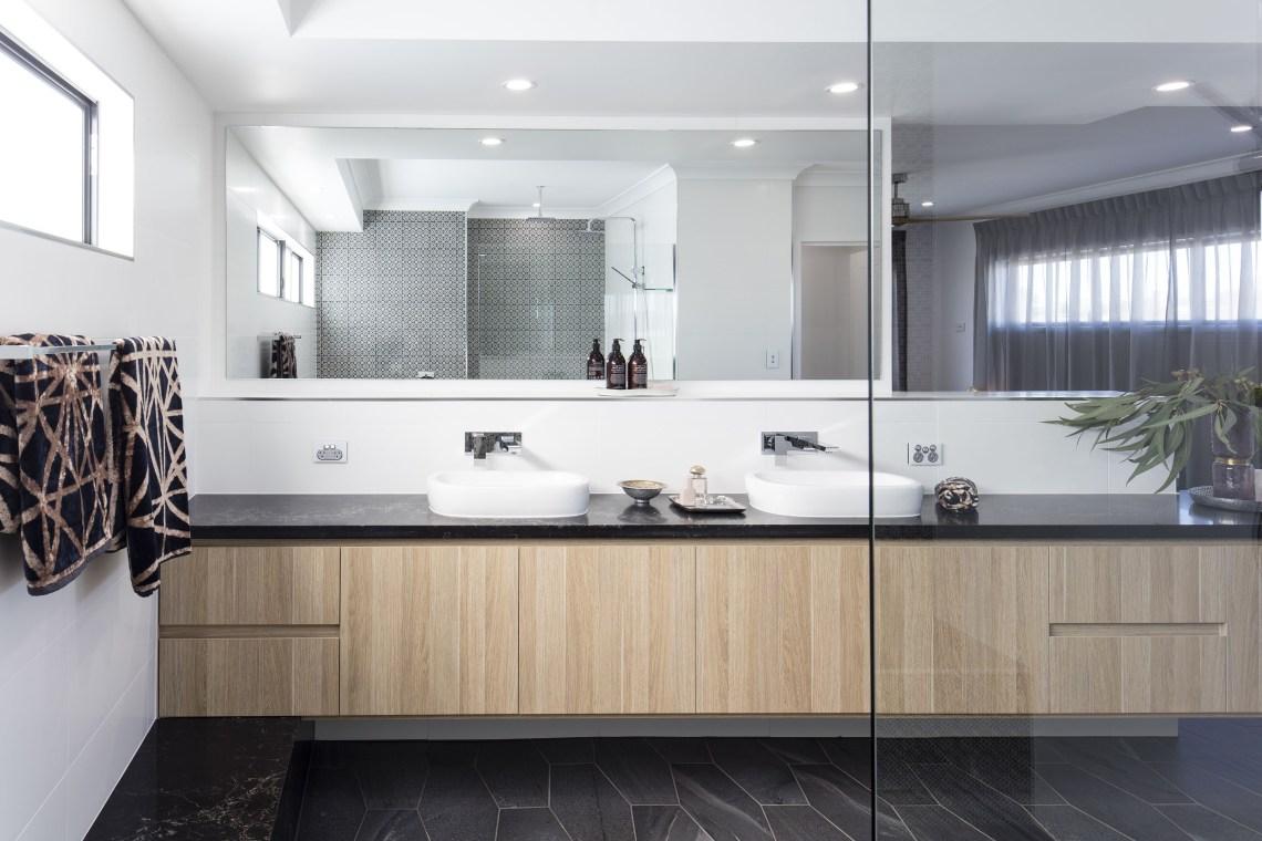 Amazing Looking Bathroom In Polytec Natural Oak Ravine