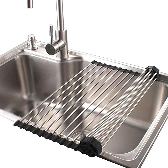 Amazon Roll Up Dish Drying Rack In Sink Stainless