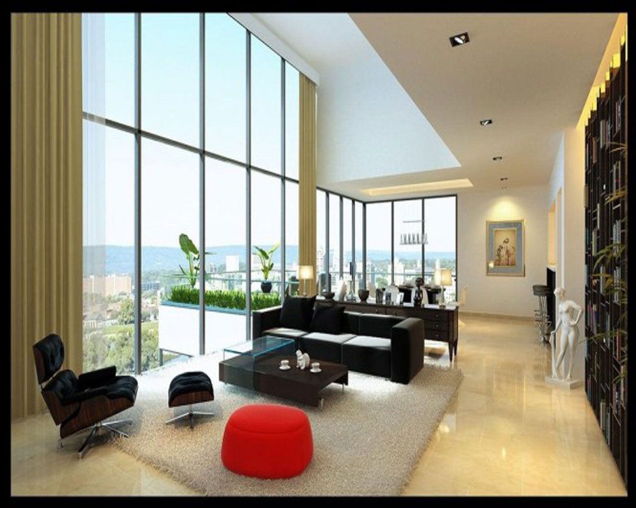 Apartments Modern Studio Apartment Living Room Ideas With