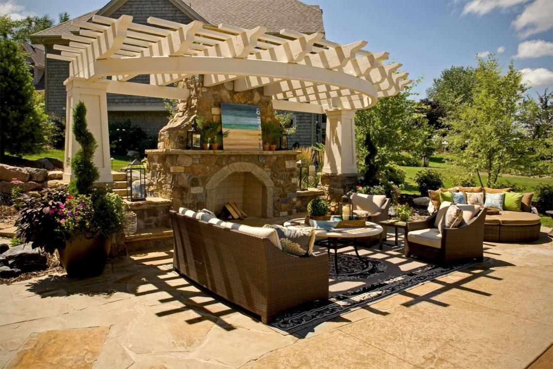 Architectural Exterior Fireplace Southview Design