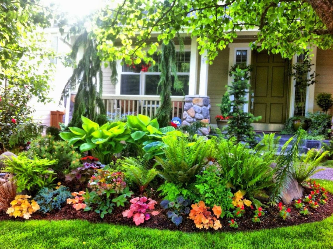 Awesome 45 Fresh And Beautiful Front Yard Landscaping