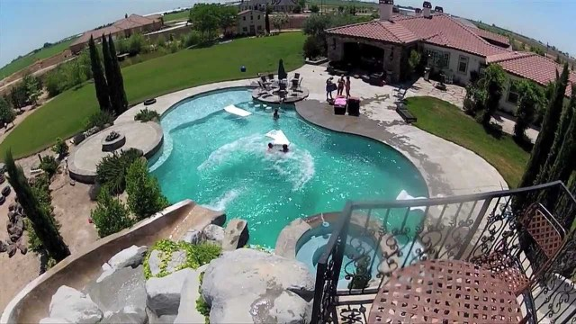 Awesome Backyard Pool Slide Gopro Hd Hero2 Youtube