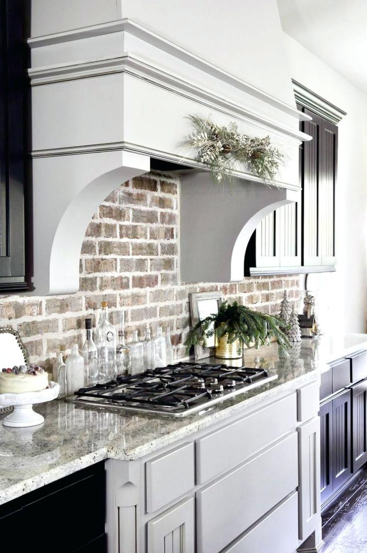 Backsplash Brick Tile Kitchen Brick Look Rustic Ideas