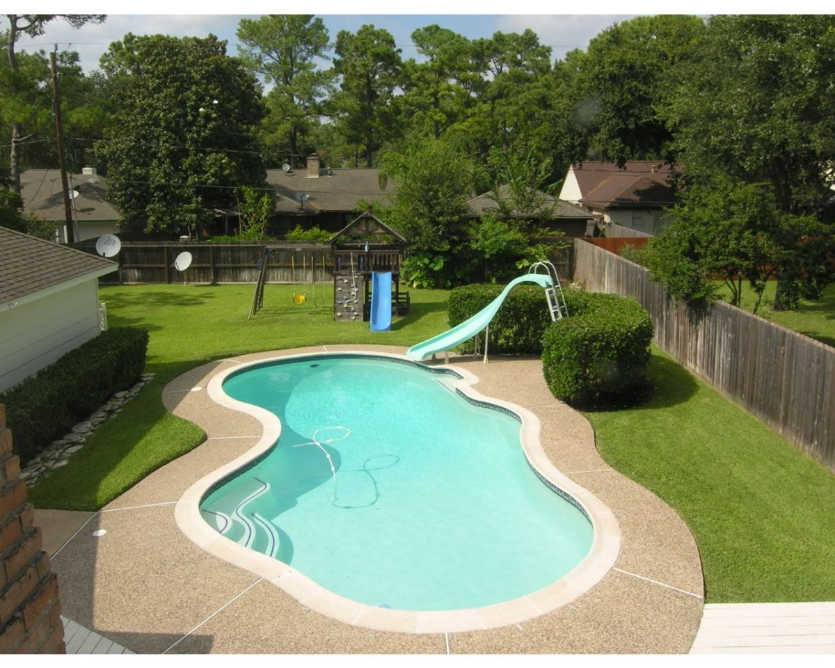 Backyard Pools Great View Of Large Backyard Pool But