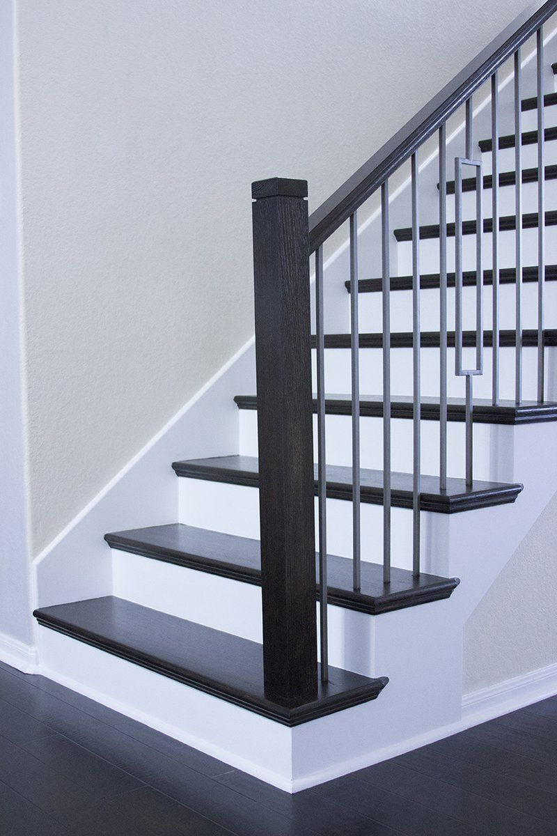 Basement Stairs Easily Made Following Prefabricated Rust