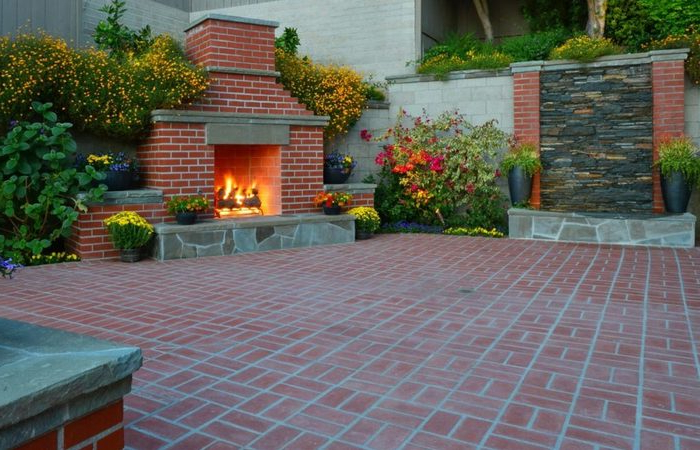 Bbq Beautiful Patio Backyard Types Of Brick Designs To