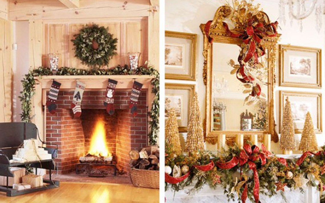 Beautiful Ideas For Christmas Fireplaces Decor Ellys