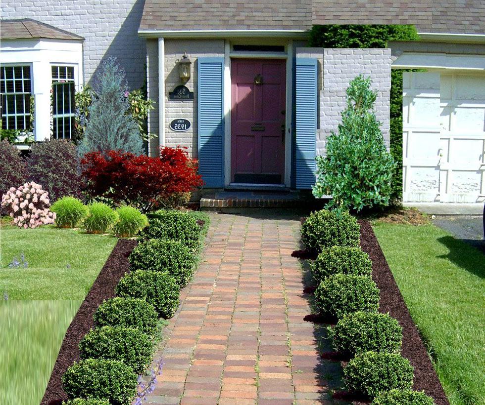 Beautiful Ideas Of Front Yard Of Walkway To Front Door