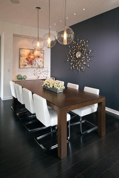 Beautiful Mix Of Textures And Light In This Modern But Cozy Dining Room Modern Dining Room