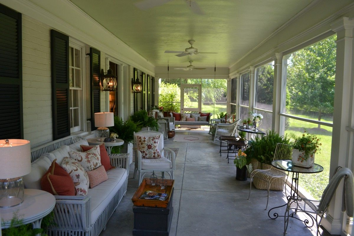 Beautiful Southern Porches Screened In Porch Furniture