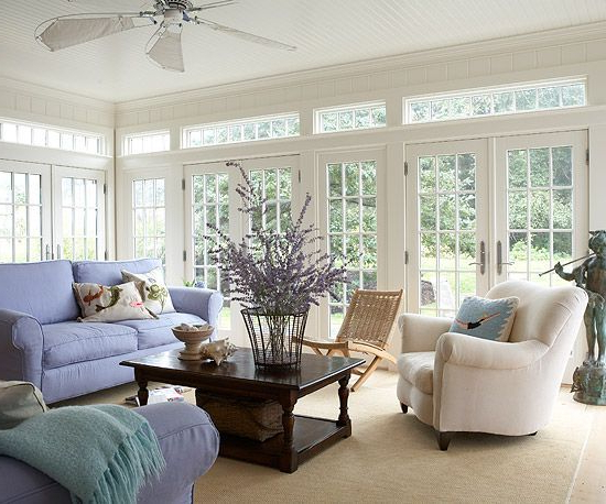 Beautiful Sunroom With Multiple French Doors Sunrooms