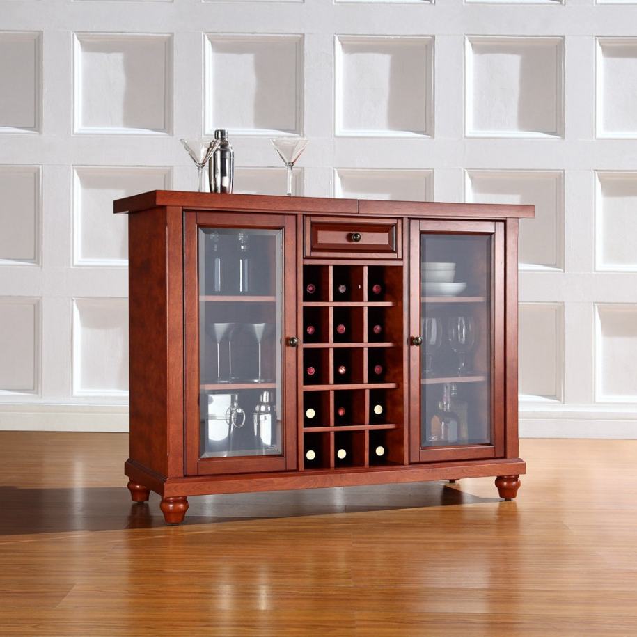 Beautiful Wooden Cabinet With Glass Doors For Your Storage