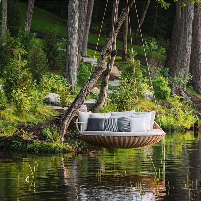 Bed Swing A Place To Relax On Outdoor Backyard Hammock
