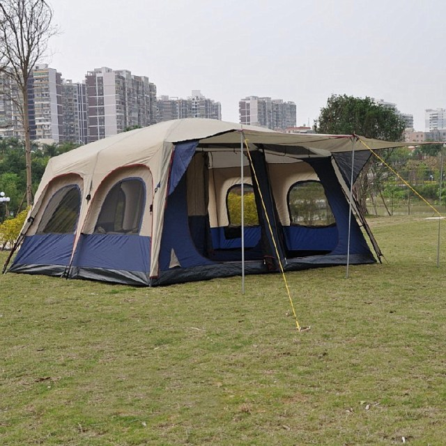 Bell Tent Outdoor Large Cabin Dome Tents Camping Tent Equipment Double Layer Tent 10 Person