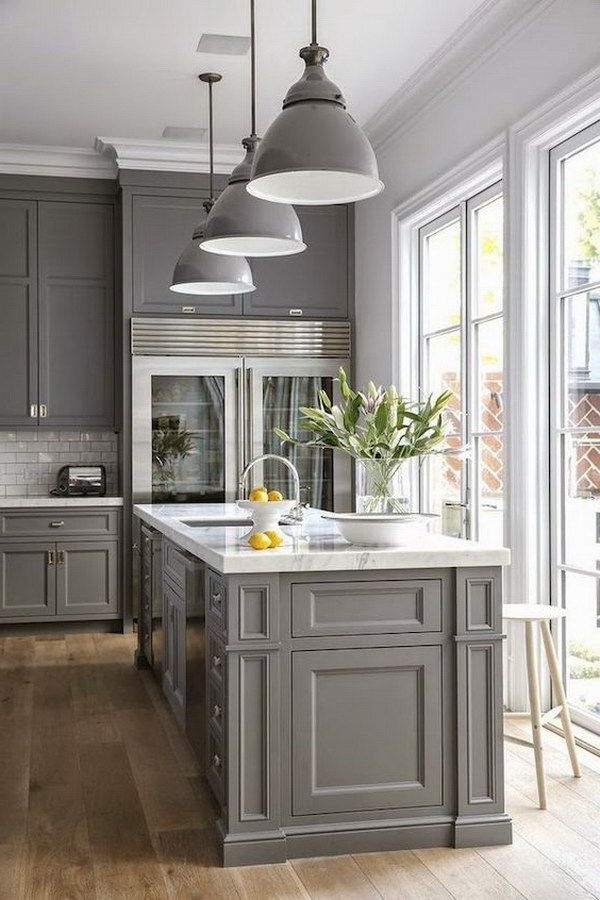 Best 25 Gray Kitchen Cabinets Ideas Only On Pinterest
