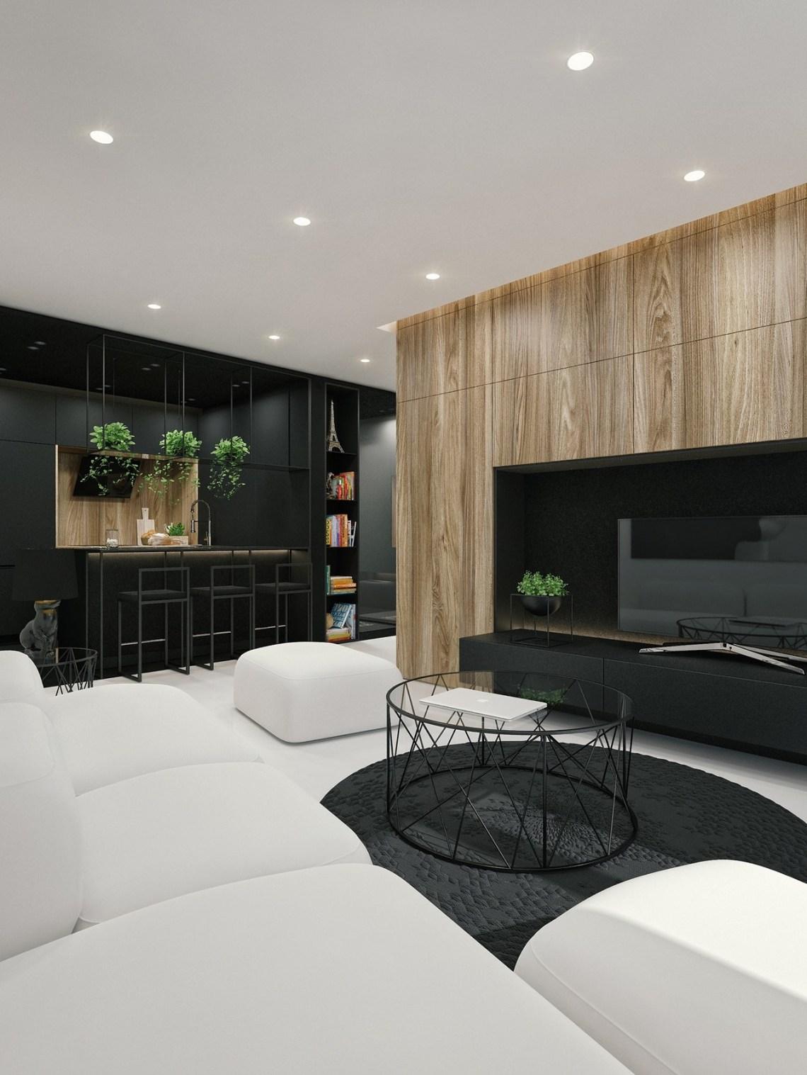 Black And White Interior Design Ideas Modern Apartment