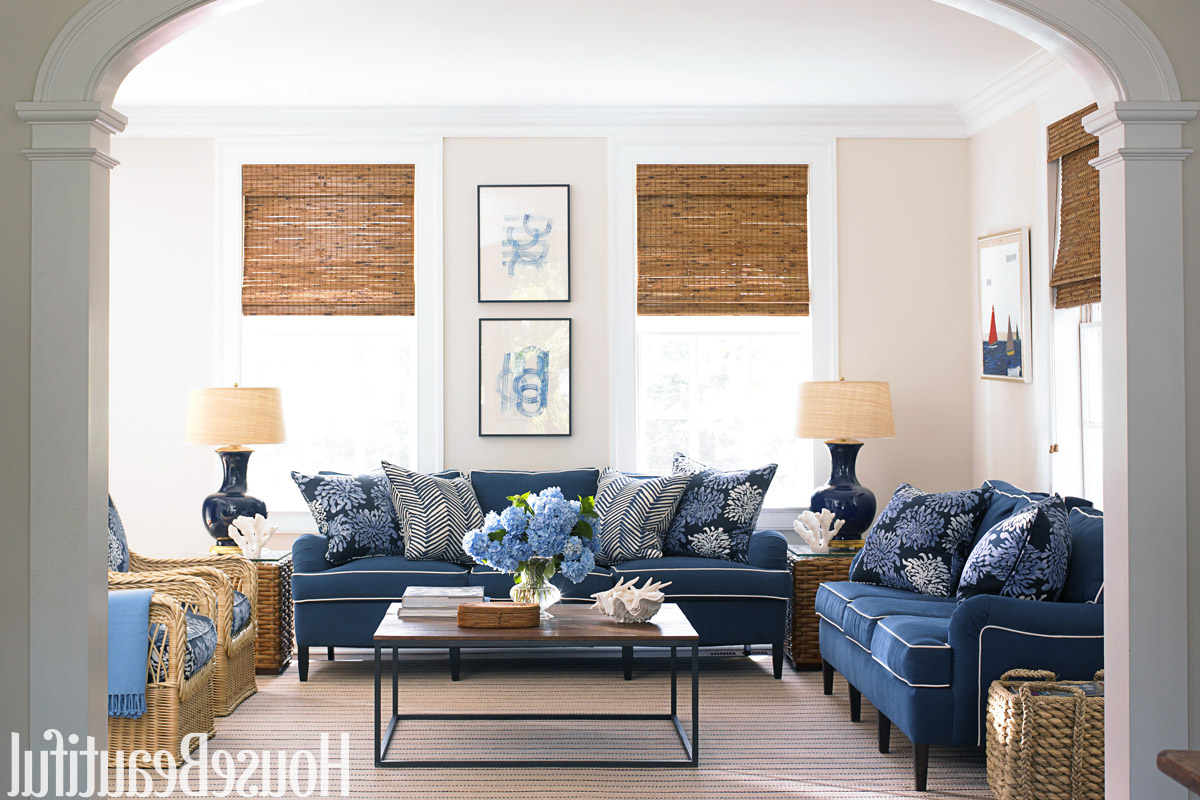 Blue And White Family Room House Beautiful Pinterest