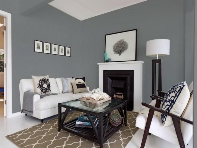 Blue Living Room Grey Paint Color Best Grey Paint Colors