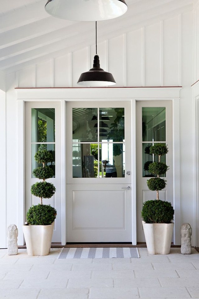 Board And Batten Door Design Entry Beach Style With