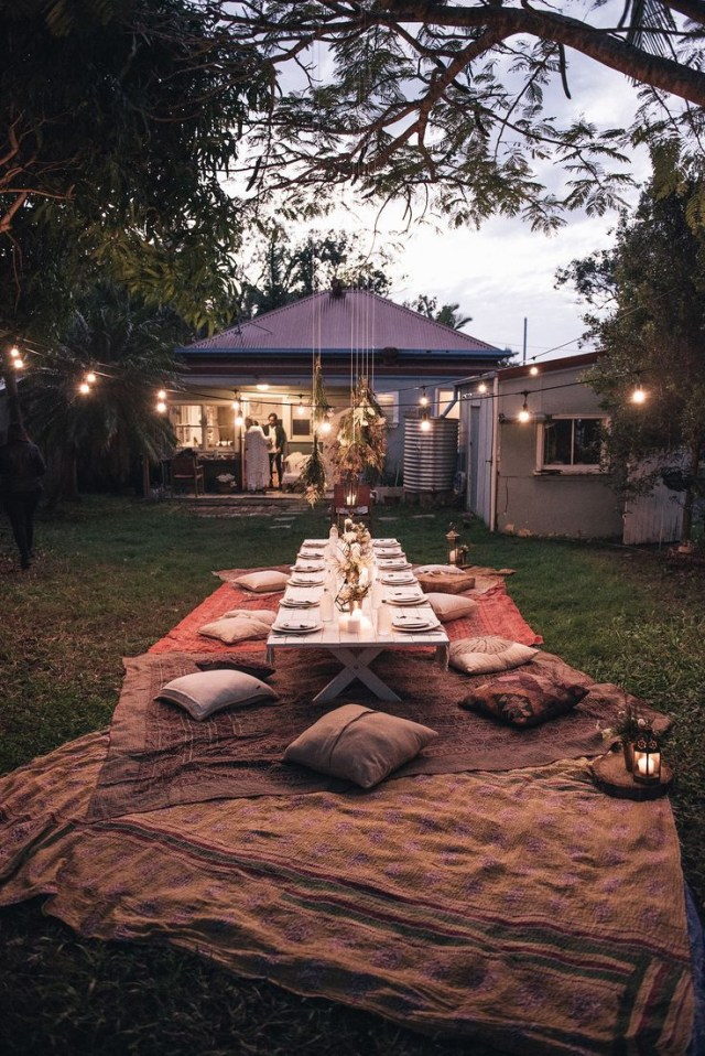 Bohemian Dinner Party Spell Designs More Boho Outdoor