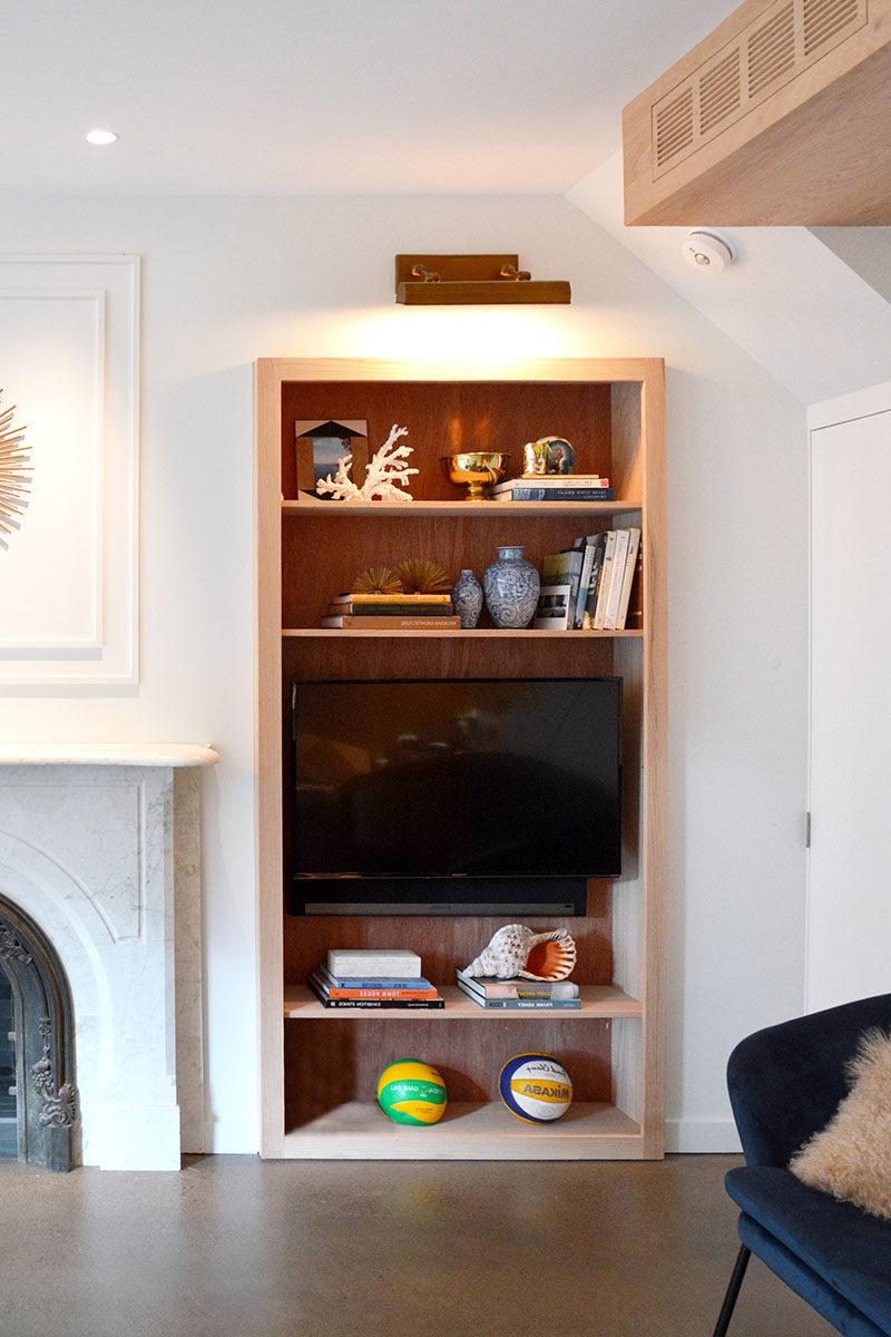 Bookshelf Design Ideas Wood Lined Built In Bookshelves
