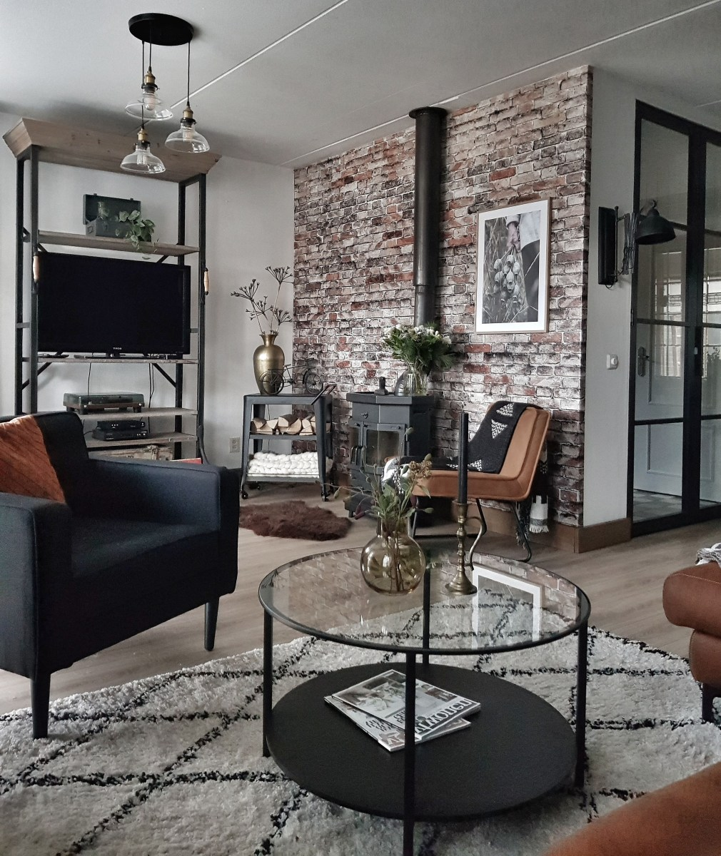 Brickwork Brick Wallpaper Living Room Living Room